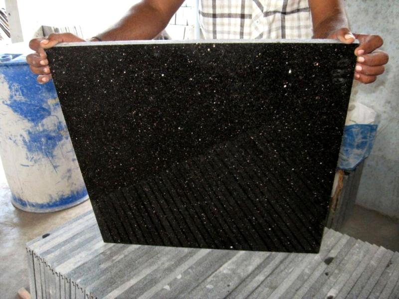 Black Galaxy Granite Tile Image